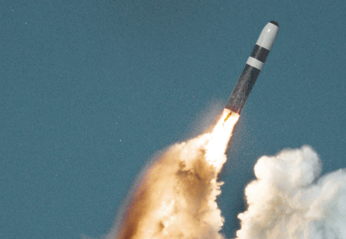 United States Trident II (D-5) missile underwater launch.