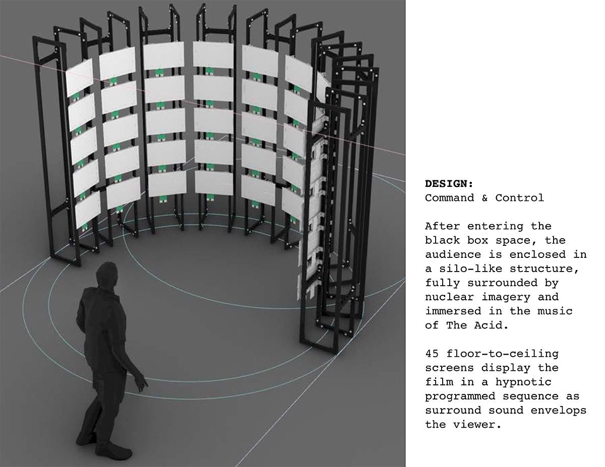 Proposed design for 'the bomb' installation at Pioneer Works in New York City.
