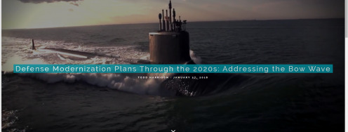 Defense Modernization Plans Through the 2020s: Addressing the Bow Wave