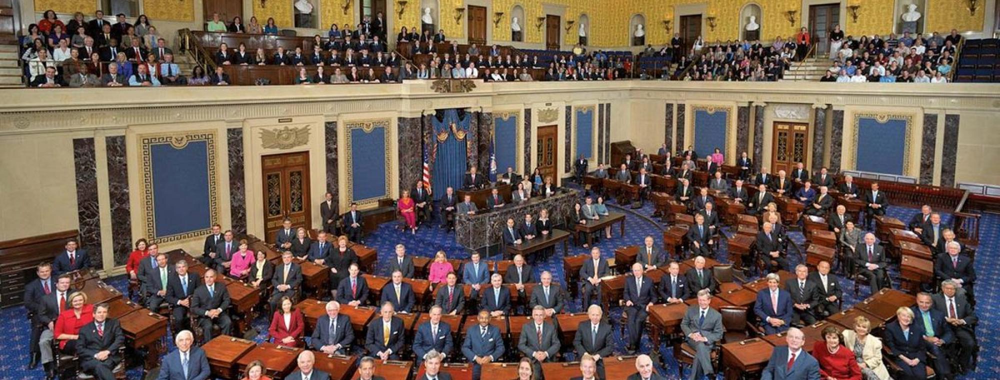 """111th US Senate class photo"" by U.S. Senate, 111th Congress, Senate Photo Studio - http://media-3.web.britannica.com/eb-media//97/149697-050-05A96268.jpg. Licensed under Public Domain via Commons - https://commons.wikimedia.org/wiki/File:111th_US_Senate_class_photo.jpg#/media/File:111th_US_Senate_class_photo.jpg"
