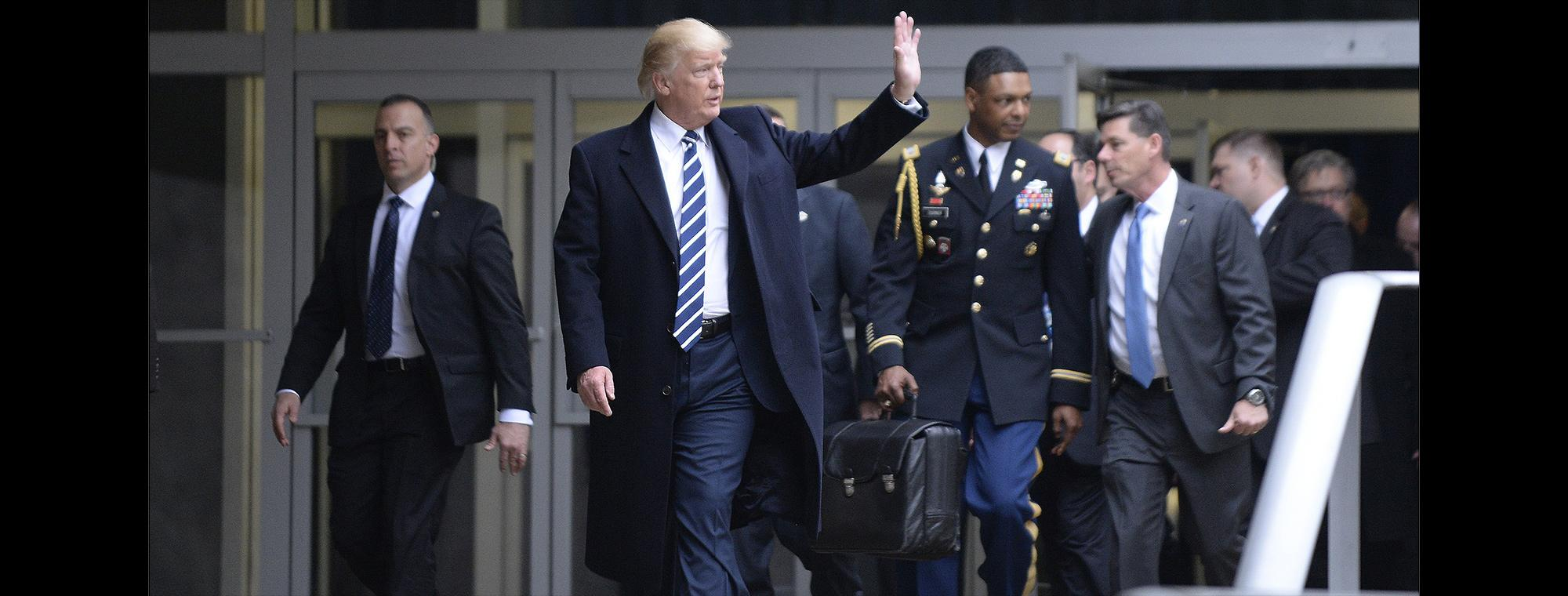 President, aide and football