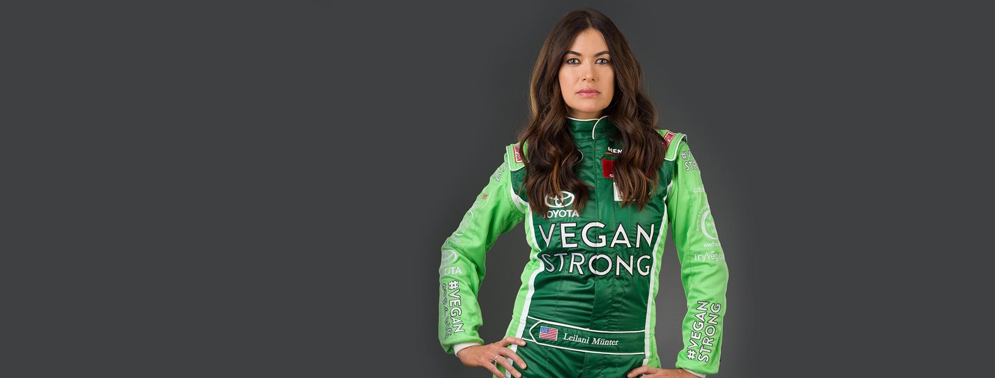 strong vegan woman
