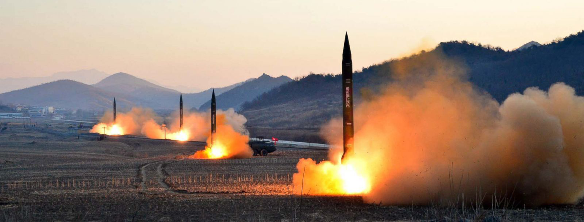 North Korea missile launch, undated, KCNA